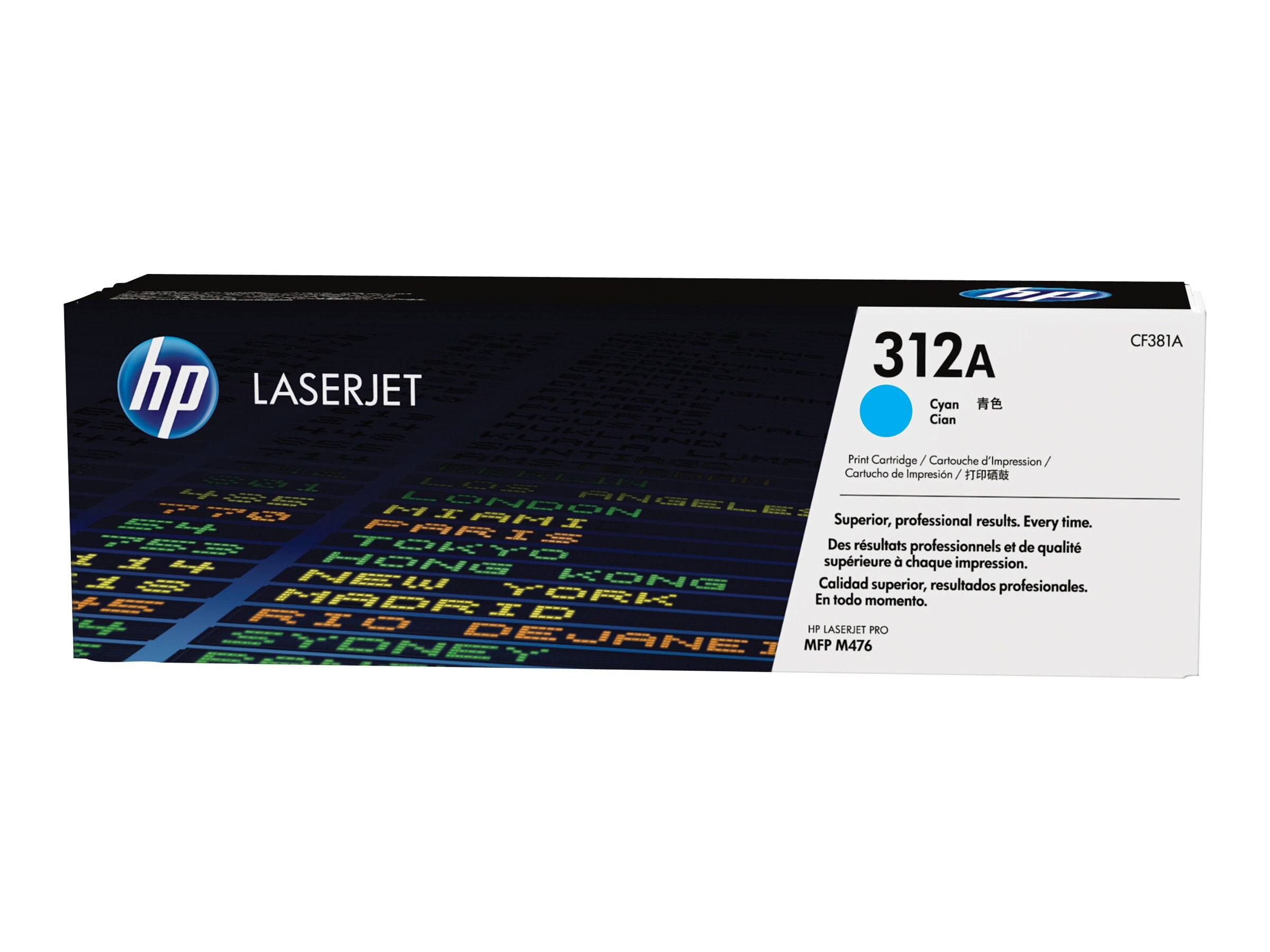 HP 312A (CF381A) Cyan Original LaserJet Toner Cartridge