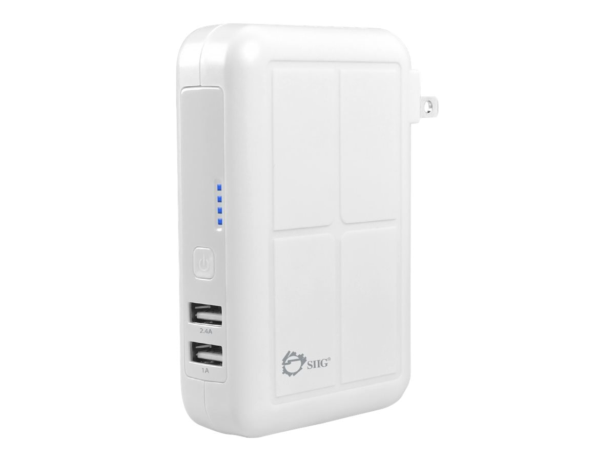 Siig 3-in-1 Power Bank Charger, White, AC-PW0Y12-S1, 31390005, Battery Chargers