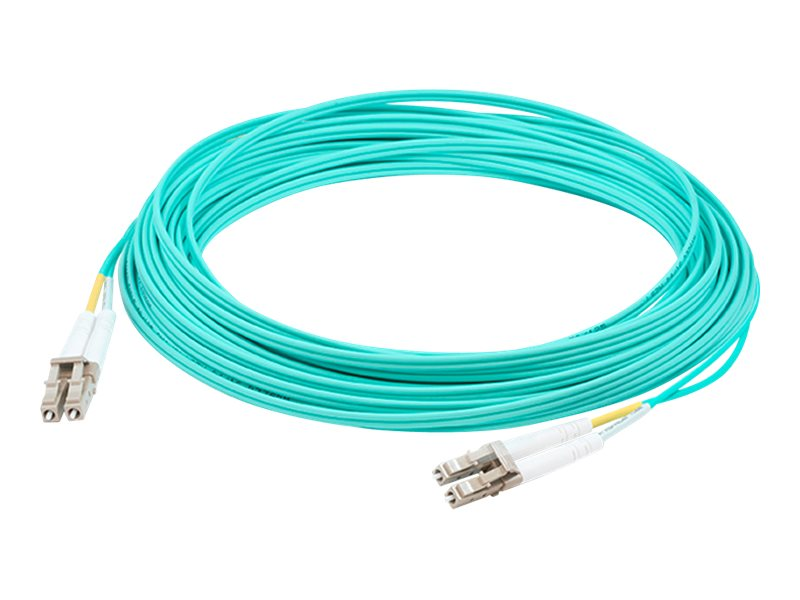 ACP-EP LC-ST 50 125 OM3 Multimode LOMM Fiber Patch Cable, Aqua, 9m, ADD-ST-LC-9M5OM3
