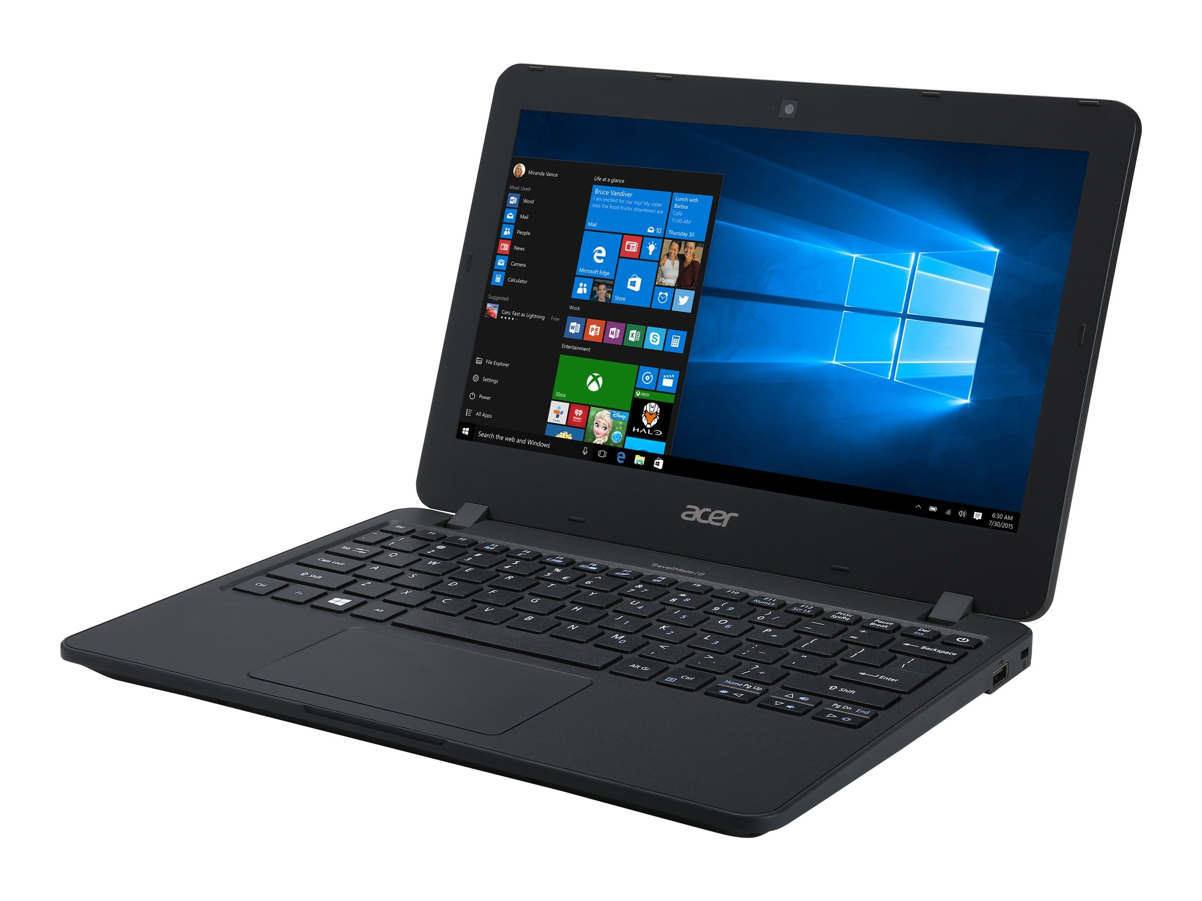 Acer Shape the Future TravelMate B117-MP-C2G3 Celeron N3060 1.6GHz 4GB 32GB ac BT 11.6 HD MT W10P64