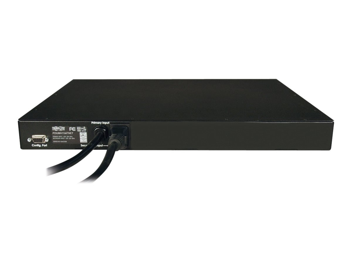 Tripp Lite PDU Switched ATS 120V 15A 5-15R (8) Outlet (2) 5-15P Horizontal 1U RM, Instant Rebate - Save $20, PDUMH15ATNET