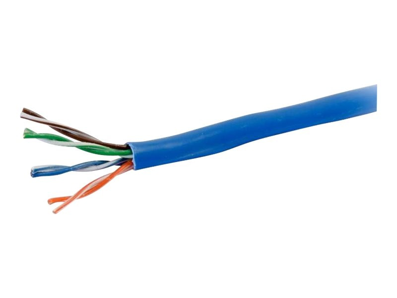 C2G Cat5e Bulk Unshielded UTP Network Cable with Solid Conductors, Blue, 500ft, 56000, 21483996, Cables