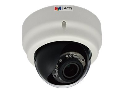 Acti 1MP Indoor Dome with D N, Adaptive IR, Basic WDR, Vari-focal lens