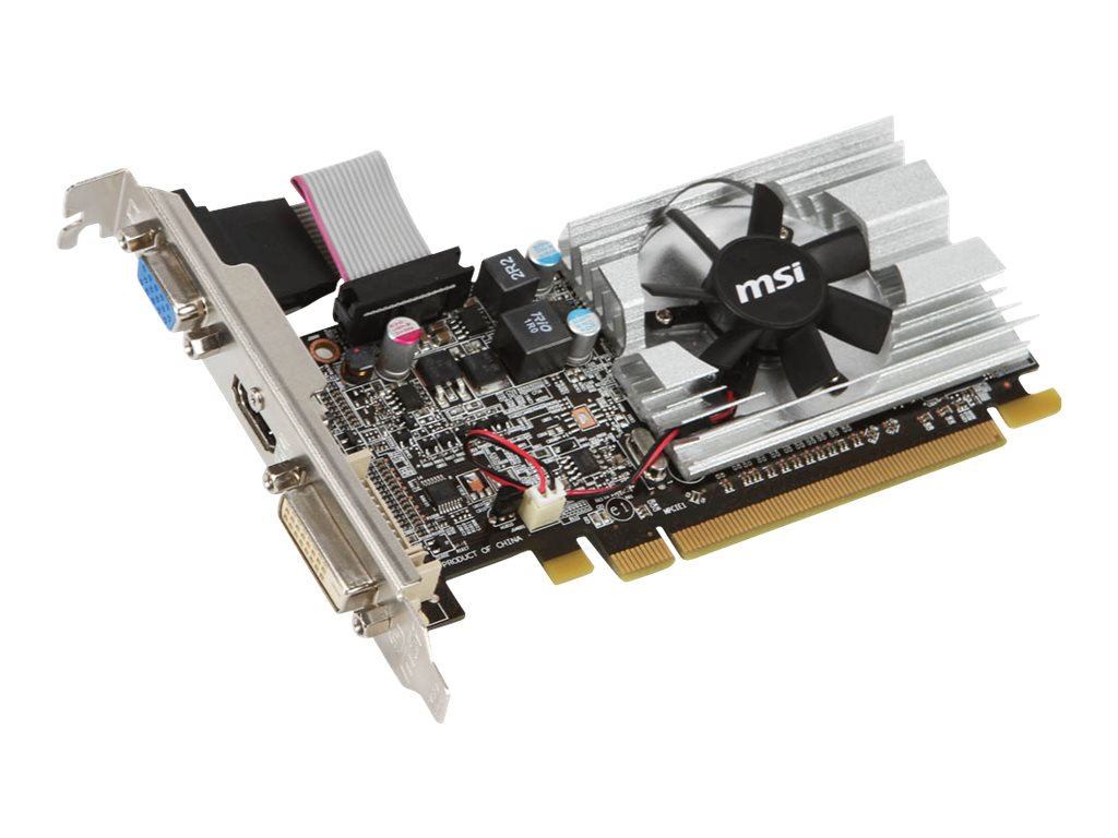Microstar Radeon 6450 Graphics Card, 1024MB DDR3, R6450-MD1GD3/LP, 12724495, Graphics/Video Accelerators