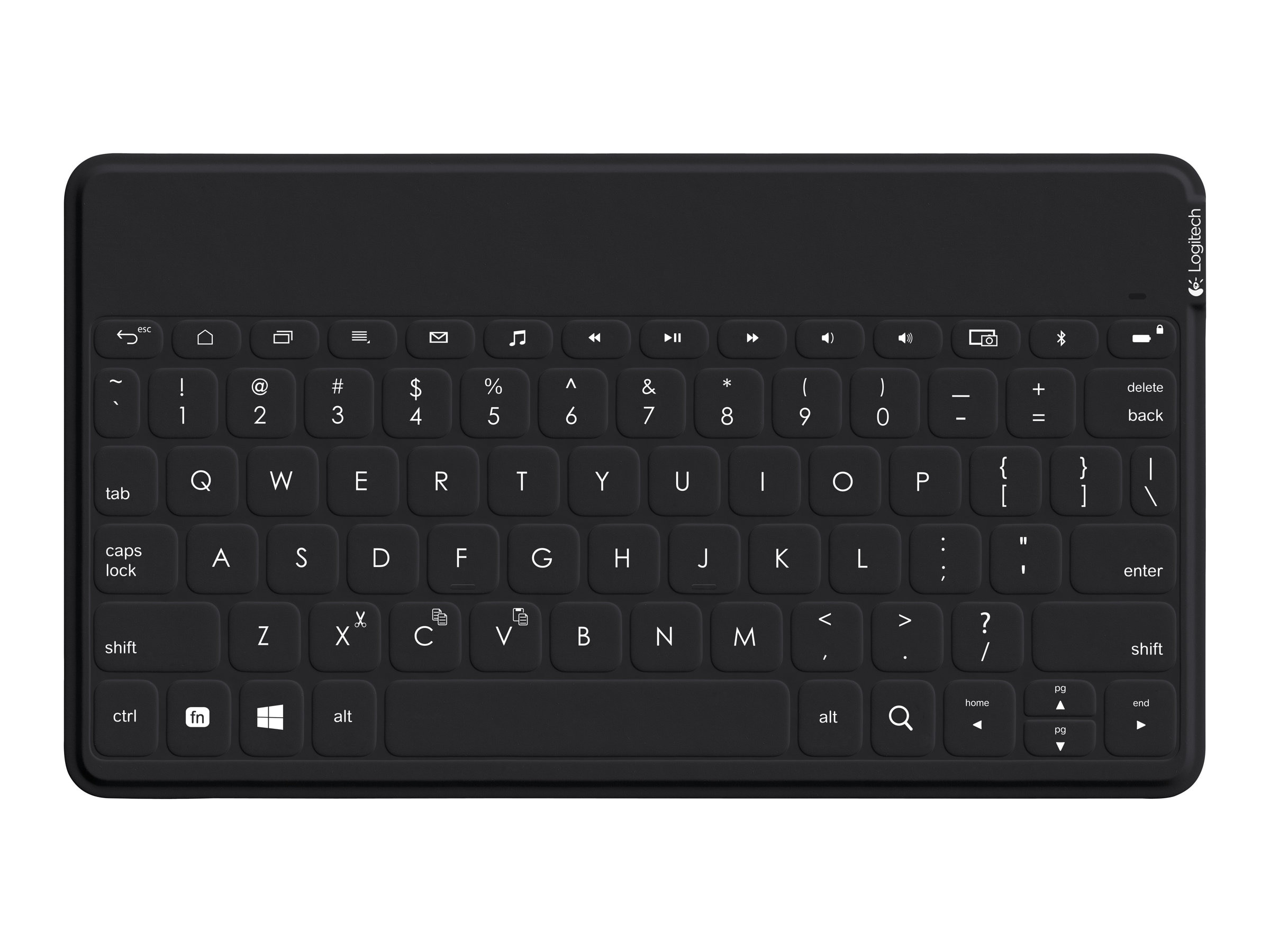 Logitech Keys-To-Go Portable Keyboard for iPad, iPhone, Apple TV, Black, 920-006701