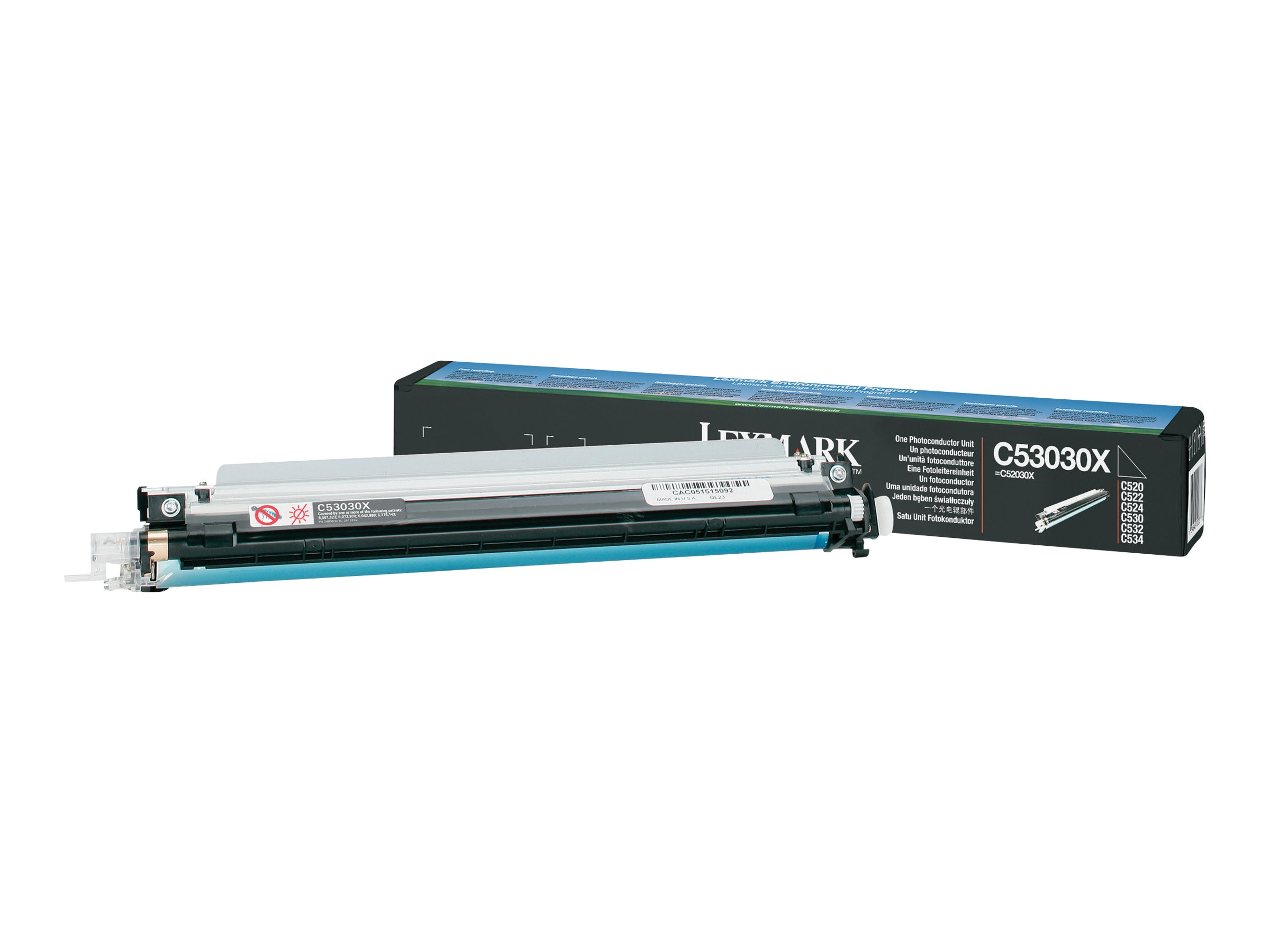 Lexmark Photoconductor Unit for C530DN C532N C534N Printers, C53030X, 7282291, Toner and Imaging Components