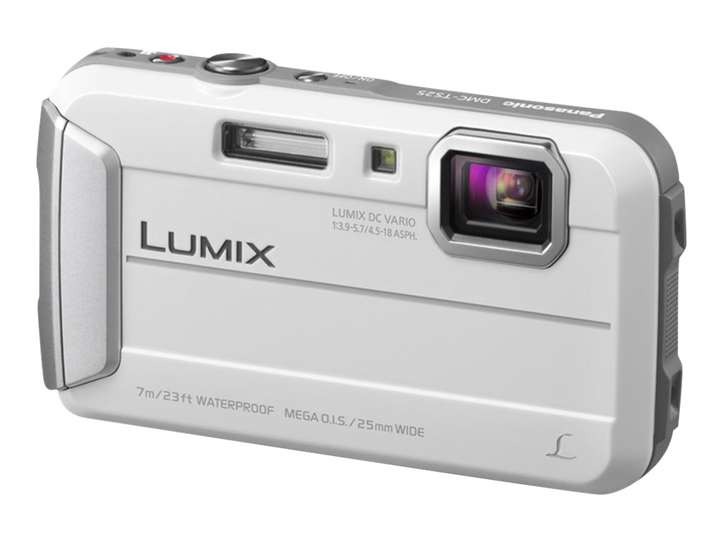 Panasonic DMC-TS25W Time Lapse Capture Camera - White, DMC-TS25W, 15500307, Cameras - Digital - Point & Shoot