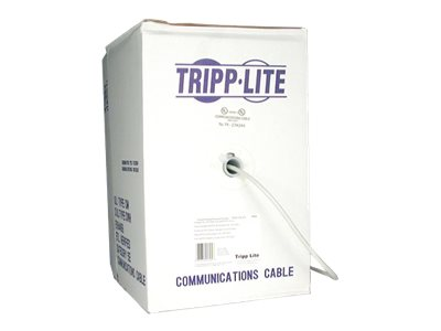 Tripp Lite Cat5e 350MHz Bulk Stranded-Core PVC Cable, Gray, 1000ft, N020-01K-GY