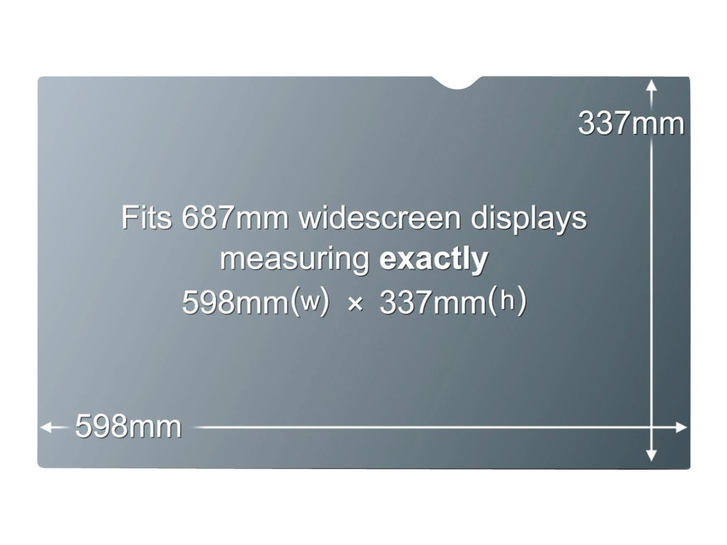 3M Privacy Filter for 27 Screen, 16:9 Aspect Ratio, PF27.0W9, 12024149, Glare Filters & Privacy Screens