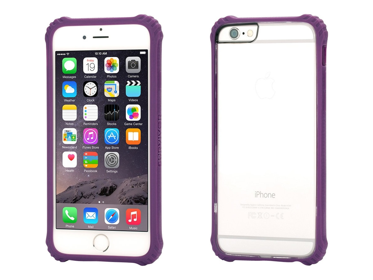 Griffin Survivor Core for iPhone 6 4.7, Purple, GB38866, 17700708, Carrying Cases - Phones/PDAs