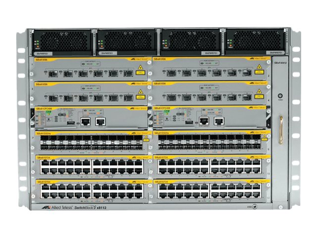 Allied Telesis 96-Port POE+ System Bundle, AT-SBX8112-96POE+-10, 16630912, Network Switches