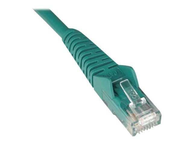 Tripp Lite Cat6 Gigabit Snagless Molded Patch Cable- Green, 1ft, N201-001-GN