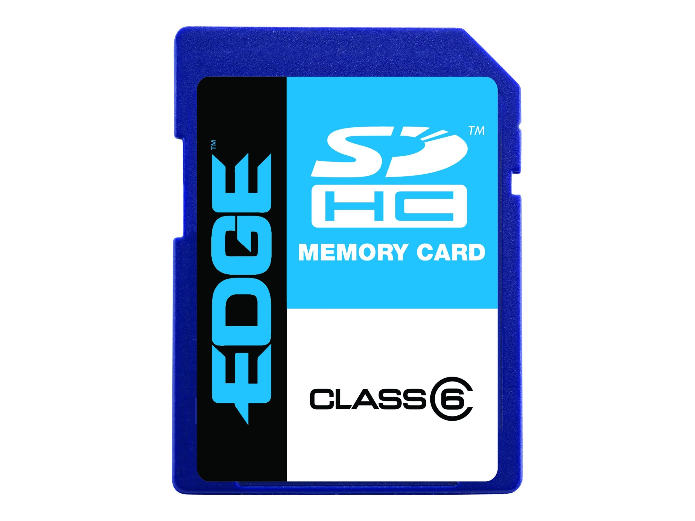 Edge 4GB SDHC Class 6 Card, PE209780, 7758404, Memory - Flash