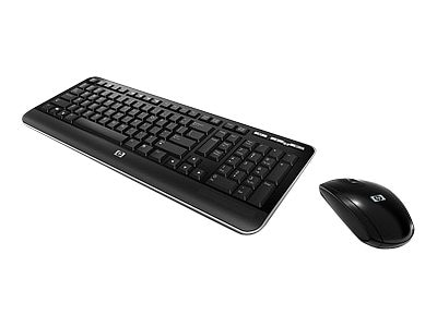 HP Wireless Keyboard & Mouse, 2.4GHz, QY449AA#ABA