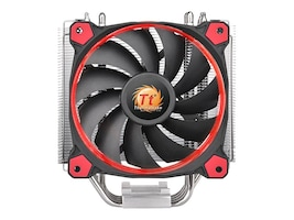 Thermaltake Riing Silent 12 CPU Cooler, Red, CL-P022-AL12RE-A, 32001438, Cooling Systems/Fans