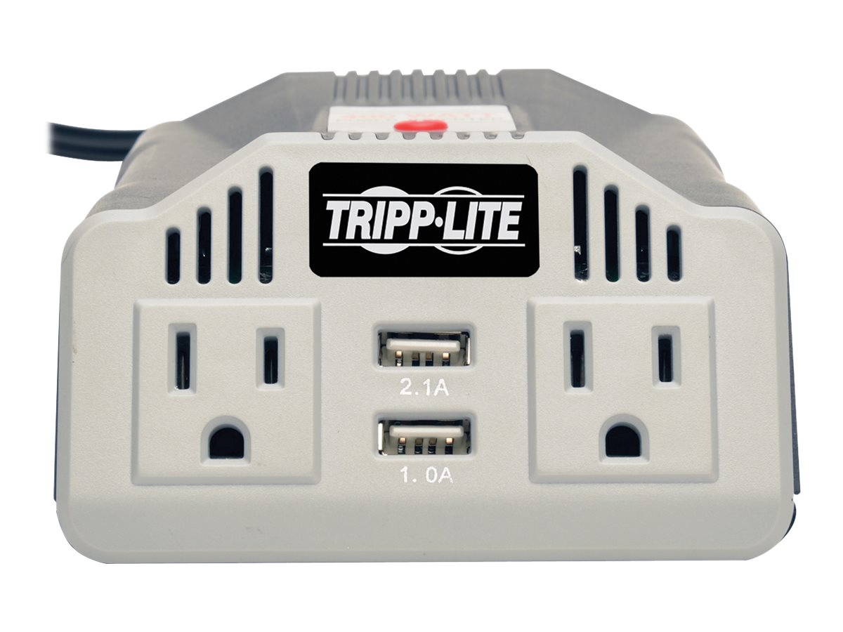 Tripp Lite PowerVerter 400W Ultra-Compact Inverter w  AC Outlet, 12VDC Vehicle Outlet, (2) USB Charging Ports, PV400USB