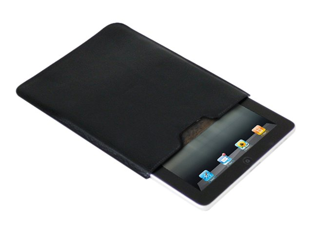 Premiertek Leather Sleeve Pouch for Apple iPad, Black (Bulk Pack), LC-IPAD-BK