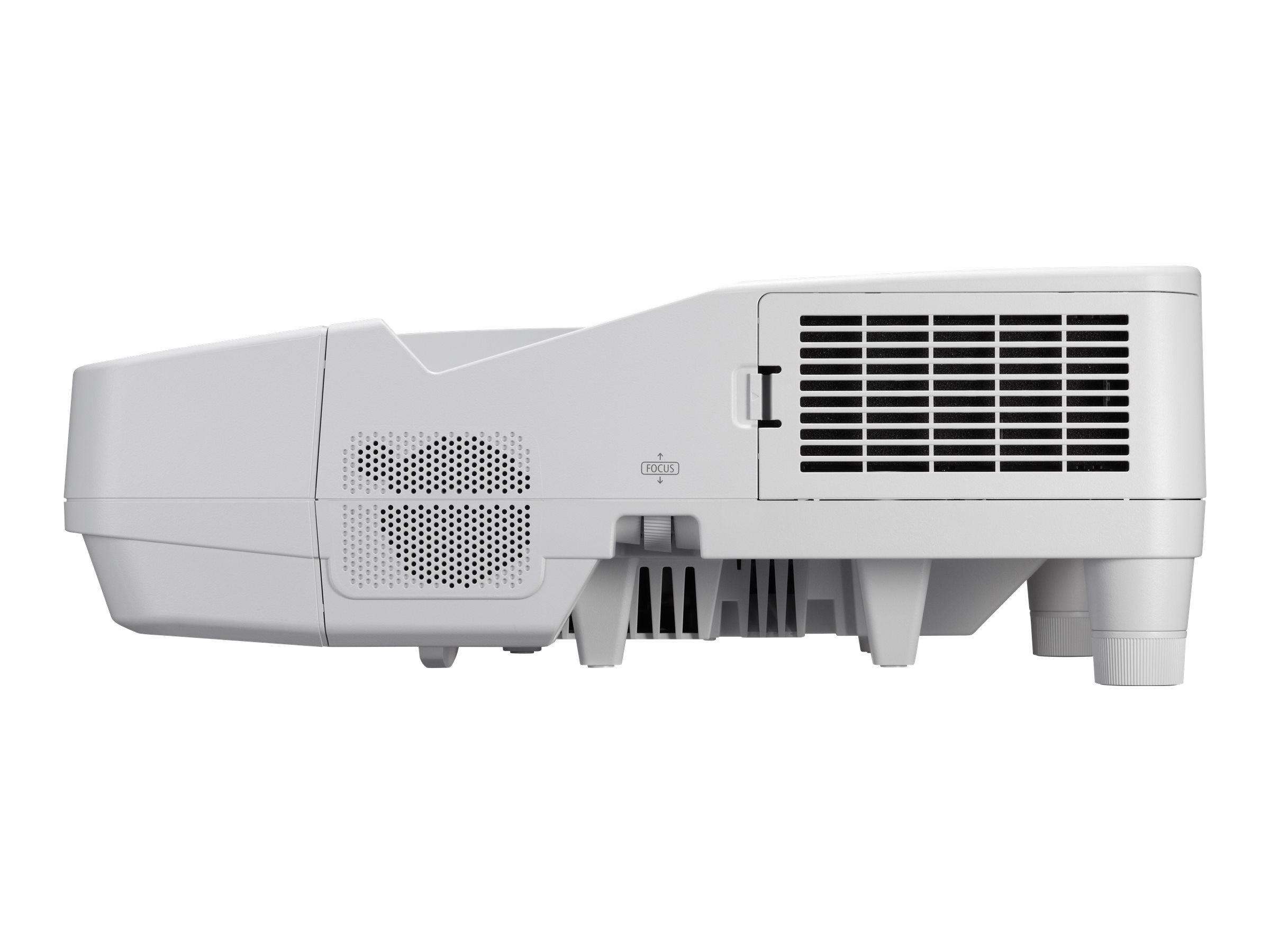 NEC UM351W Ultra Short Throw LCD Projector, 3500 Lumens, White with Wall Mount, NP-UM351W-WK