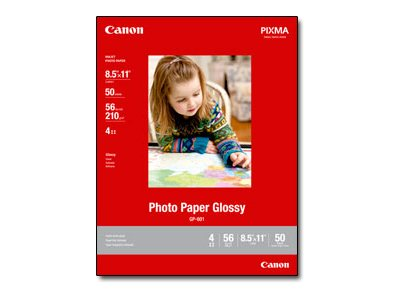 Canon 8.5 x 11 Glossy Photo Paper (50 Sheets), 8649B003