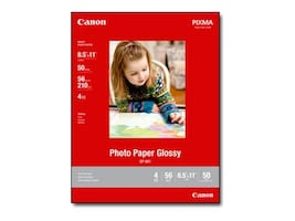 Canon 8.5 x 11 Glossy Photo Paper (50 Sheets), 8649B003, 17396339, Paper, Labels & Other Print Media