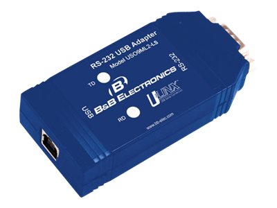 B&B Electronics USB To Isolated RS-232 DB9 Converter, USO9ML2-LS, 16548433, Adapters & Port Converters