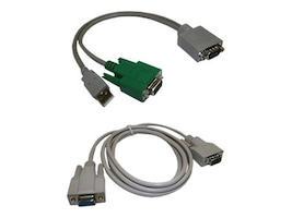 Topaz DB9 (M) to DB9 (F) and USB Type A (M) Y-Cable, A-CSA4-3, 16910341, Cables