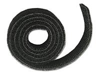 C2G Hook and Loop Cable Wrap, 10ft, Black, 29852, 6758007, Cable Accessories