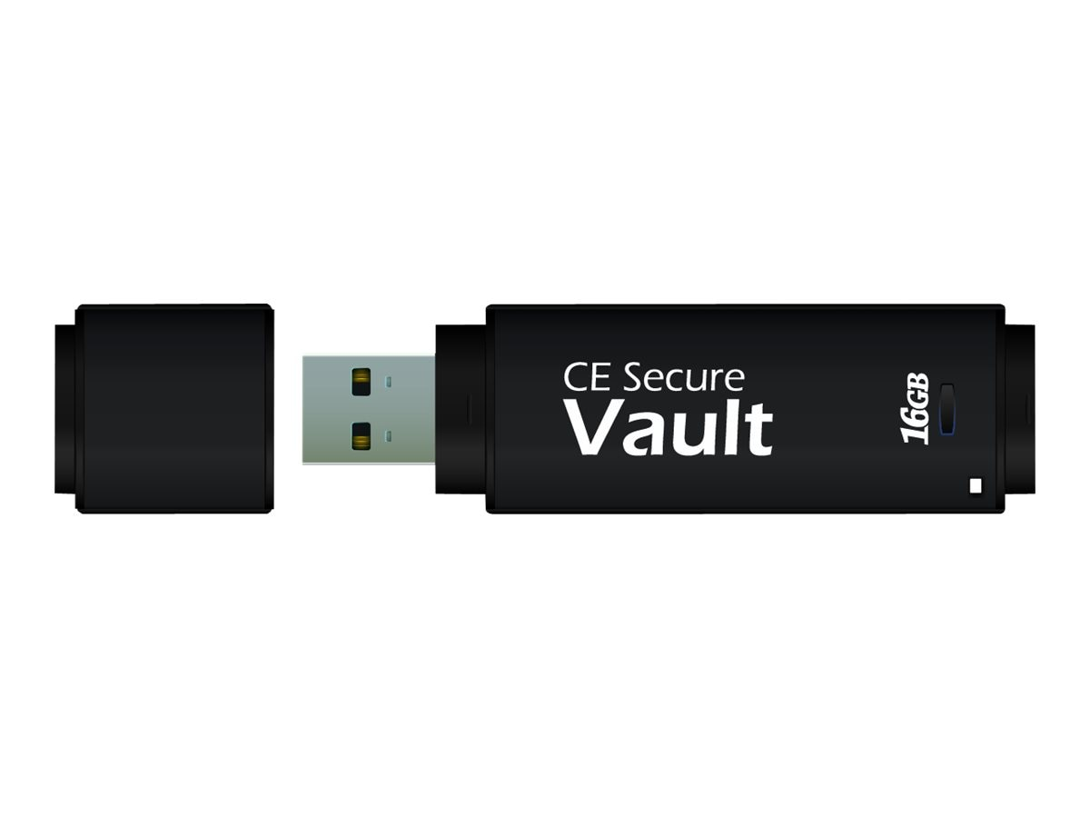 CMS 8GB USB 2.0 CE-Secure Vault Flash Drive, CE-VAULT-8G -FAR