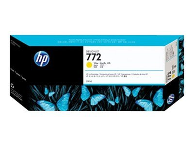 HP 772 Yellow 300ml Ink Cartridge, CN630A, 11444205, Ink Cartridges & Ink Refill Kits