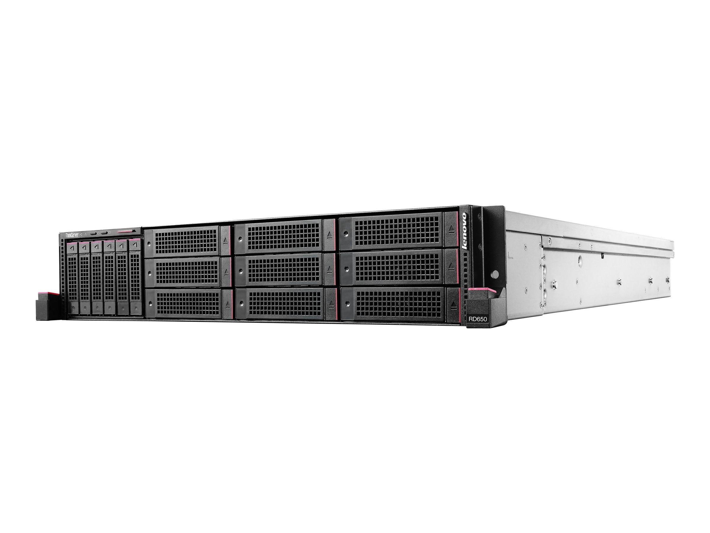 Lenovo TopSeller ThinkServer RD650 2U RM (2x)Xeon 12C E5-2690 v3 2.6GHz 128GB 2x120GB SSD 720ix 2x750W