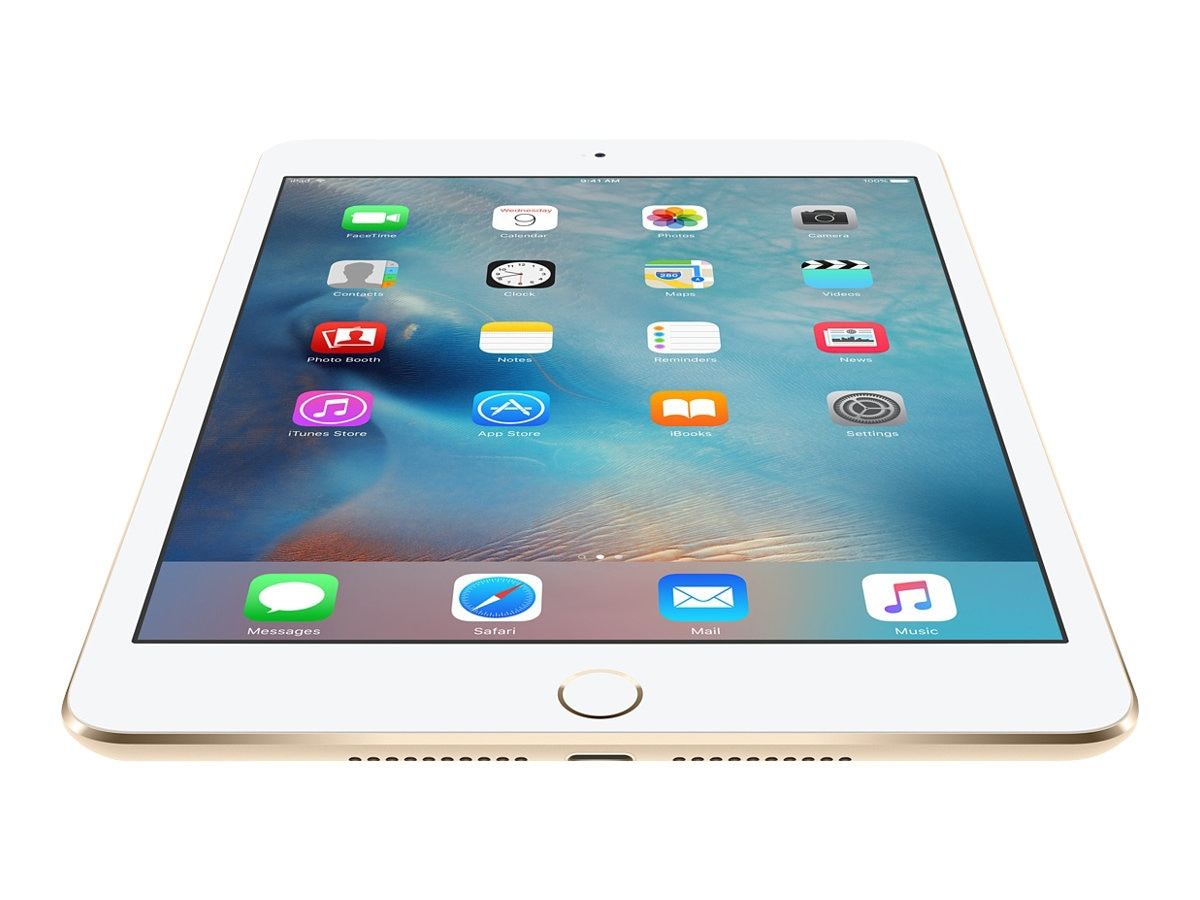 Apple iPad Mini 4 128GB, WiFi+Cellular, Gold, MK8F2LL/A, 30617298, Tablets - iPad mini