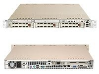 Supermicro Barebone SuperServer 6014H-I2 1U Rackmount, Dual Xeon, 420W PS,PCIE,PCIX,16GB DDR2,2GBE,3x-IDE,Beige, SYS-6014H-I2, 5475937, Barebones Systems