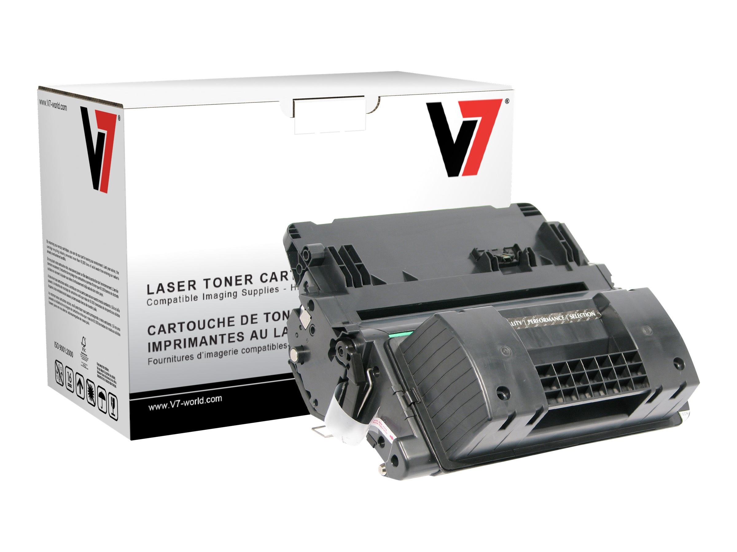V7 CC364 Black Ultra High Yield Toner Cartridge for HP LaserJet P4015 (TAA Compliant), THK2364JX