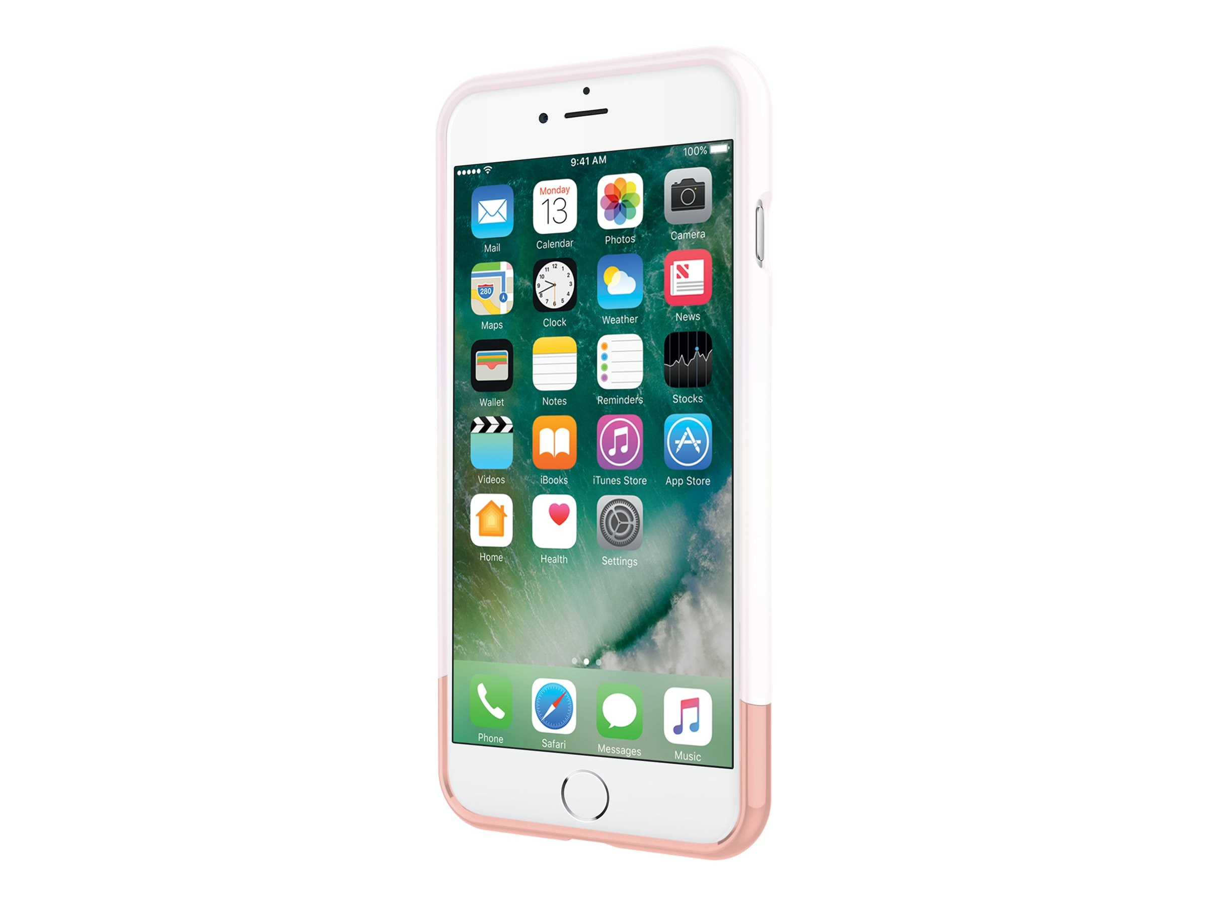 Incipio Edge Chrome Two-Piece Slider Case for iPhone 7 Plus, Iridescent White Opal Chrome Rose Gold