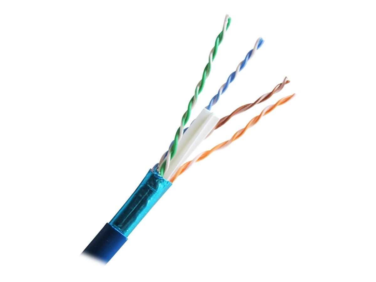 Comprehensive Cat6 500MHz Shielded Stranded Cable, Blue, 1000ft, CAT6SHSTBLU-1000, 16516087, Cables