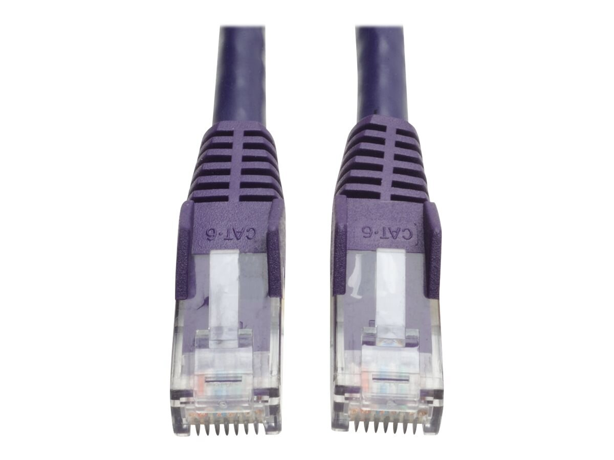 Tripp Lite Cat6 Gigabit Patch Cable, RJ-45 (M-M), Snagless, Purple, 25ft