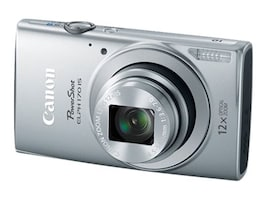 Canon PowerShot ELPH 170 IS Camera, 20MP, 12x Zoom, Silver, 0127C001, 18524347, Cameras - Digital - Point & Shoot