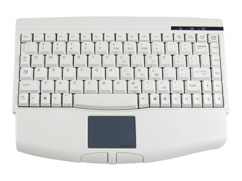 Adesso USB Mini-Keyboard with Touchpad, White, ACK-540UW, 435911, Keyboards & Keypads