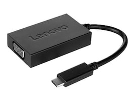 Lenovo USB Type C to VGA M F Plus Power Adapter, Black, 4X90K86568, 32113886, Adapters & Port Converters