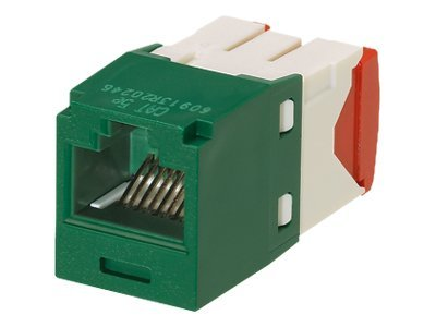 Panduit 1-Port Modular Jack, IDC, 8W8P UTP, CJ5E88TGGR, 12198202, Premise Wiring Equipment