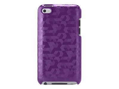 Belkin Emerge 012 Metal Polycarbonate Case for iPod Touch 4G, Purple Lightning, F8W011EBC04, 13625851, Carrying Cases - iPod