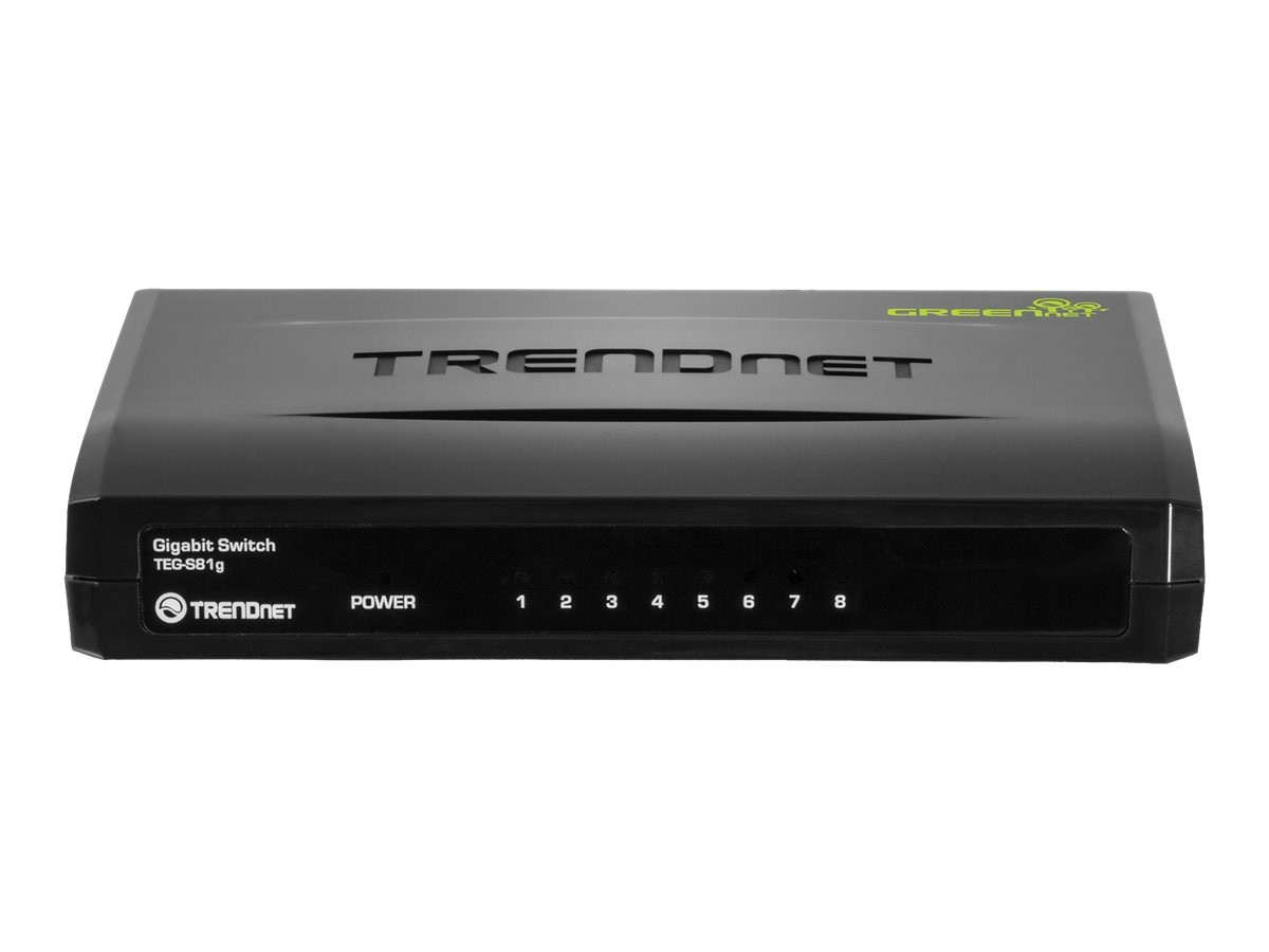 TRENDnet GREENnet 8 Port Gigabit Switch, TEG-S81g