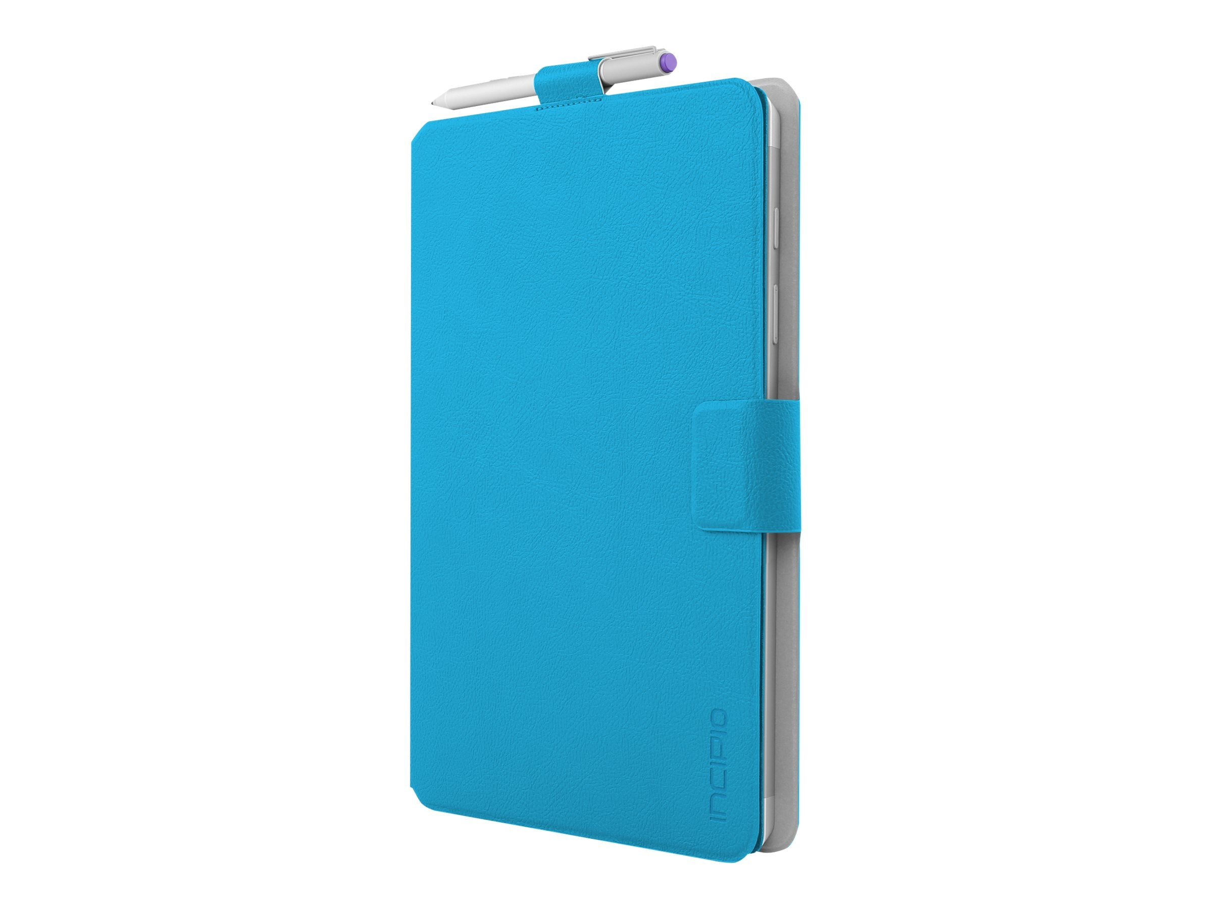 Incipio Roosevelt Slim Folio w  Snap-On Type Cover Compatibility for Microsoft Surface 3, Cyan, MRSF-081-CYN
