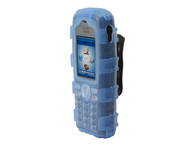 Zcover Blue Silicone Rugged Dock-in-Case for Cisco 7925 w  Clip, CI925HJL, 31775044, Carrying Cases - Phones/PDAs