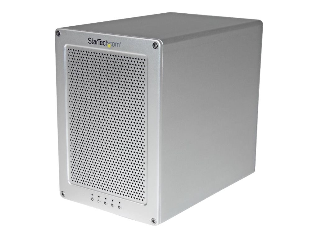 StarTech.com Thunderbolt 2 Quad Bay Hard Drive RAID Enclosure w  Thunderbolt Cable, S354SMTB2R, 18008262, Hard Drive Enclosures - Multiple