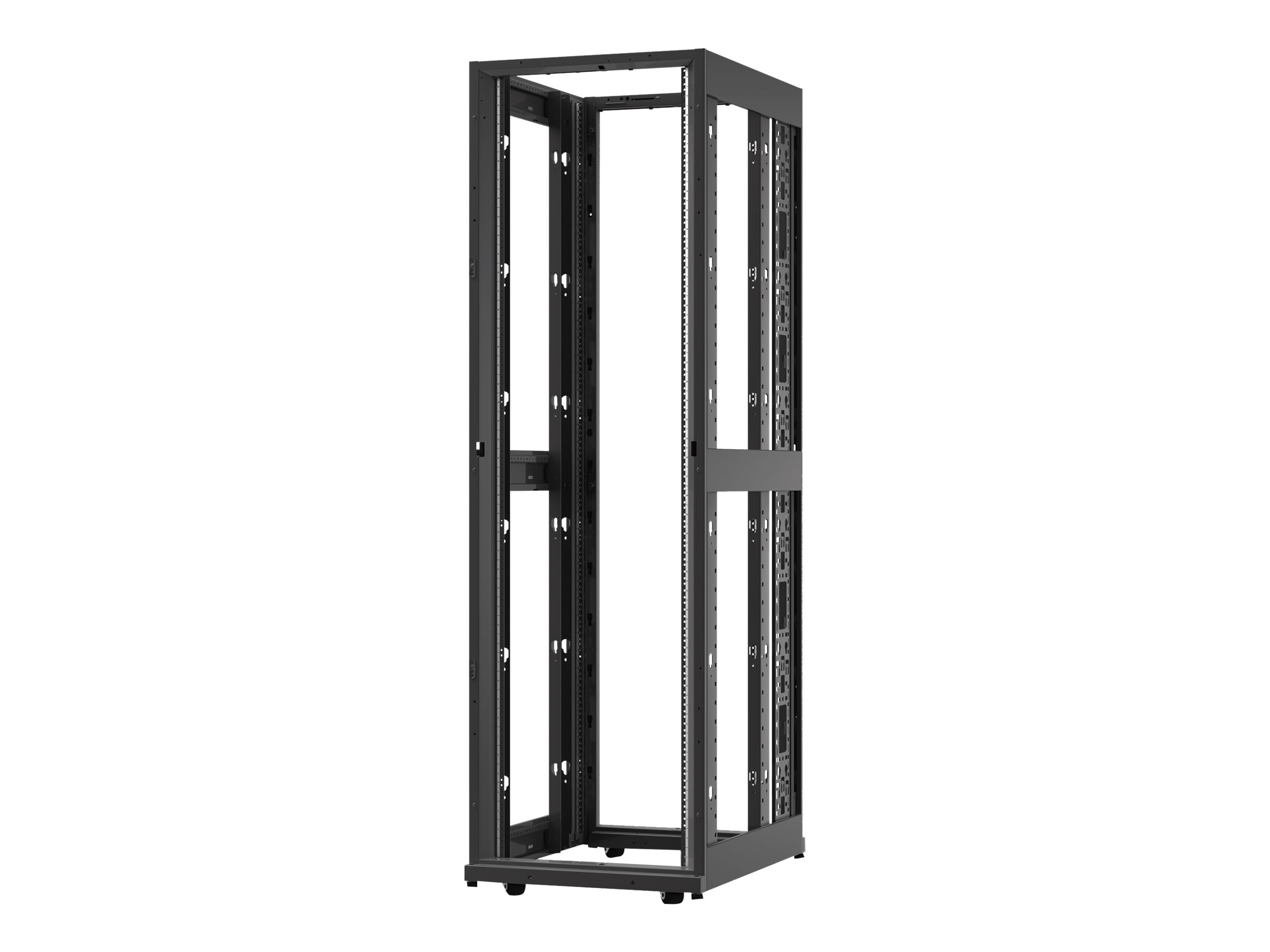APC NetShelter AV 42U 600mm W x 825mm D Enclosure, 10-32 Threaded Rails, No Sides Roof Doors, Black
