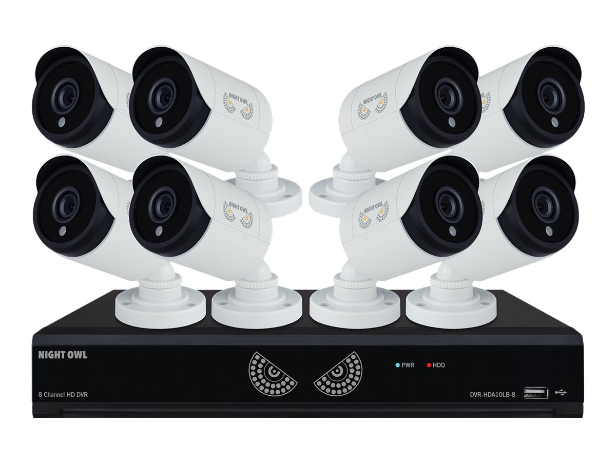 Night Owl 8-Channel 1080 Lite DVR with 1TB HDD, 8x 1080p HD Cameras, B-10LHDA-881-1080