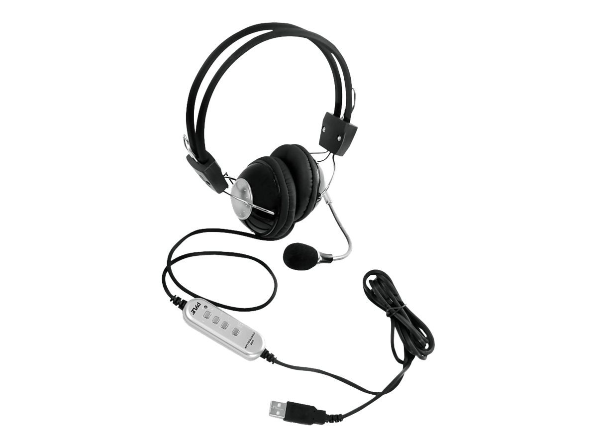 Pyle Multimedia Gaming USB Headset with Noise-Canceling Microphone