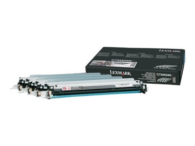 Lexmark Photoconductor Units for C734, C736, X734, X736 & X738 Series (4-pack), C734X24G, 9882484, Toner and Imaging Components