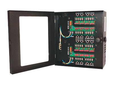 Samsung 16 Camera 24VAC 8A Power Supply Lockable Steel Cabinet, PWR-24AC-16-8UL
